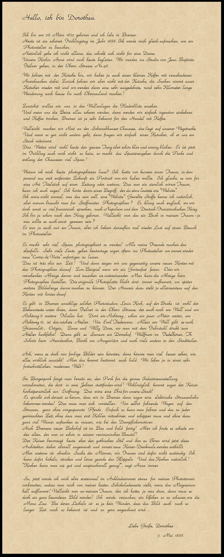 Brief Dorothea Byron-Srft