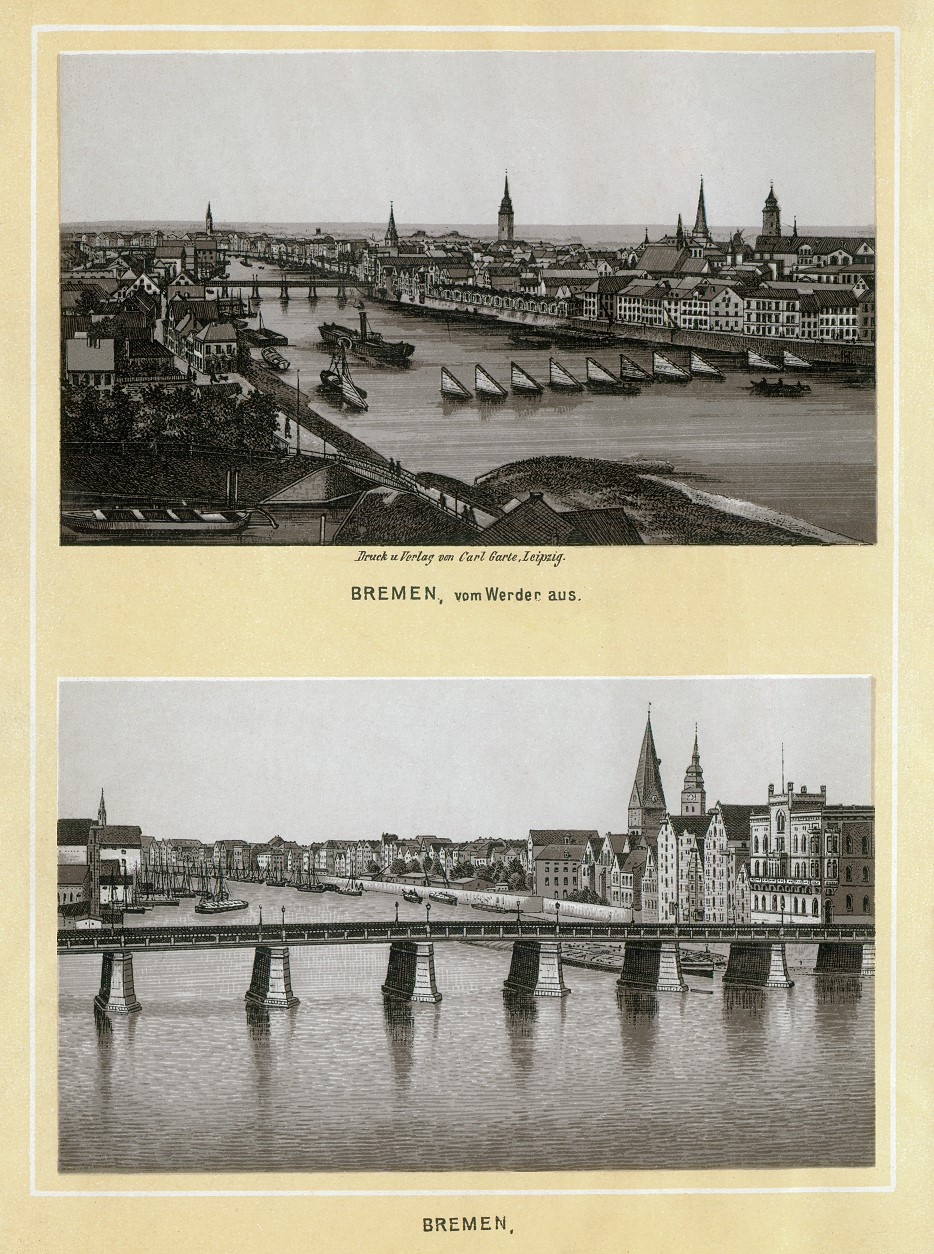 Stich - Bremen vom Werder aus