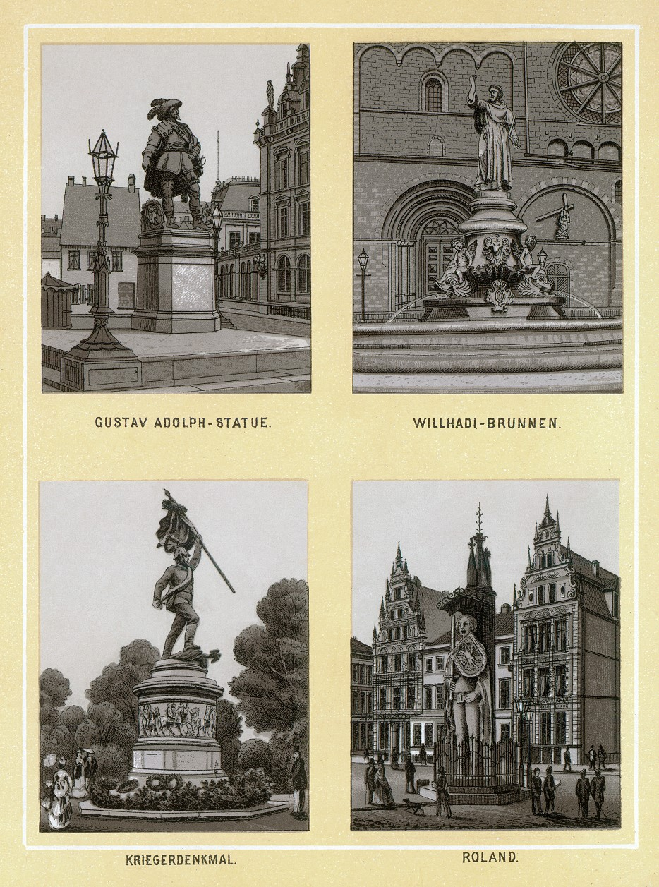 Stich - Statuen und Brunnen