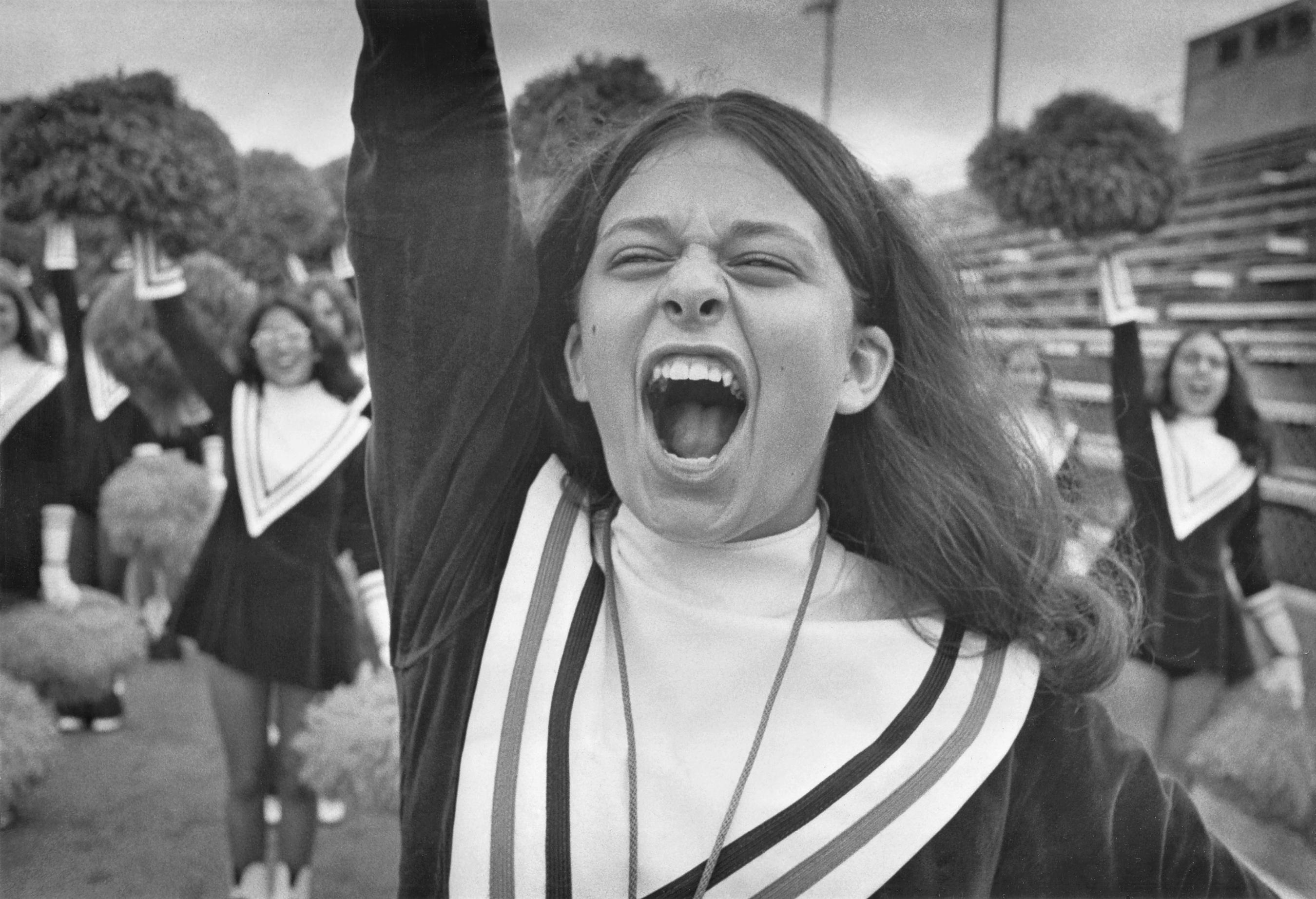Cheerleader in spirit, 1974
