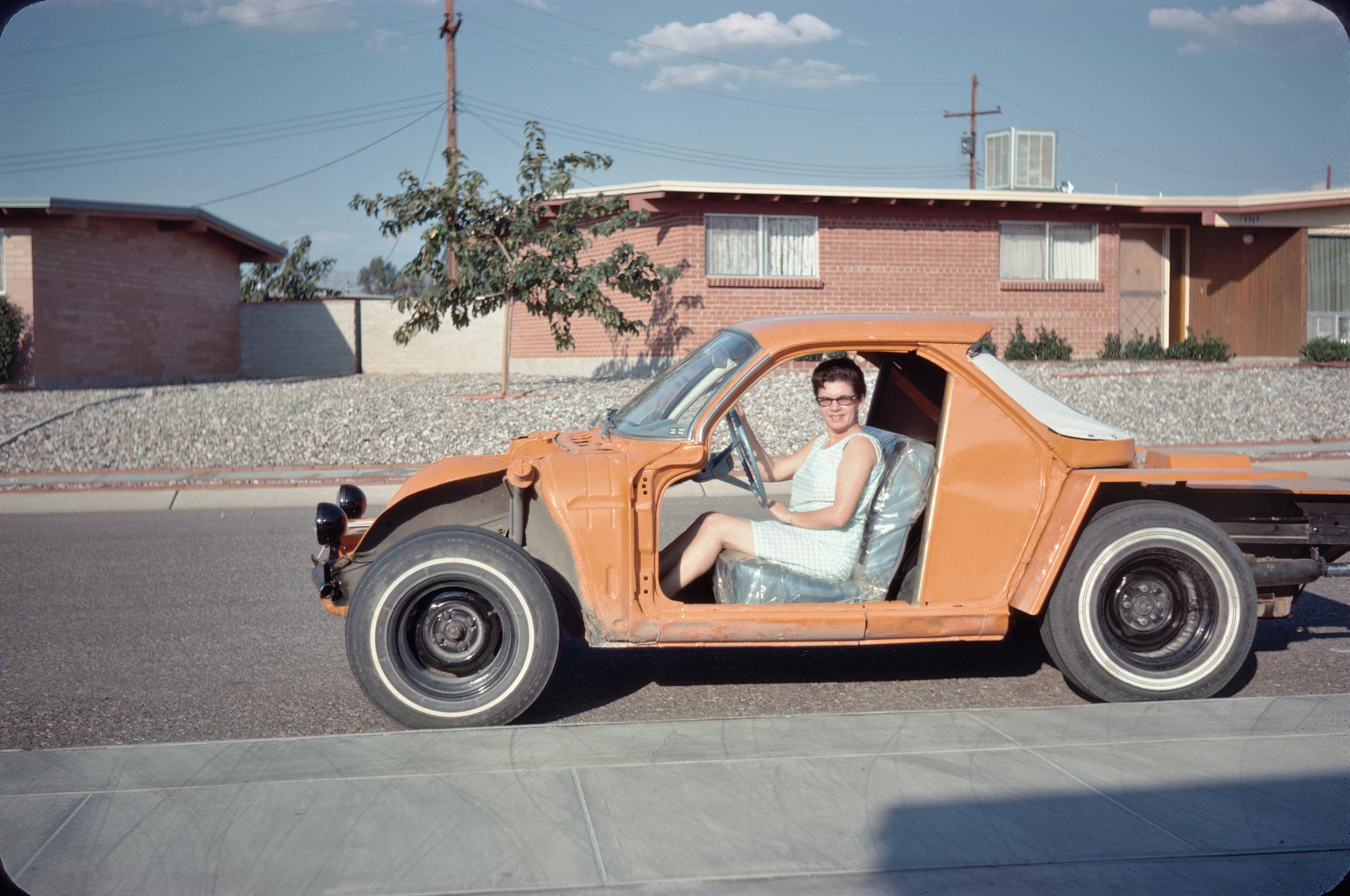 Orange open car