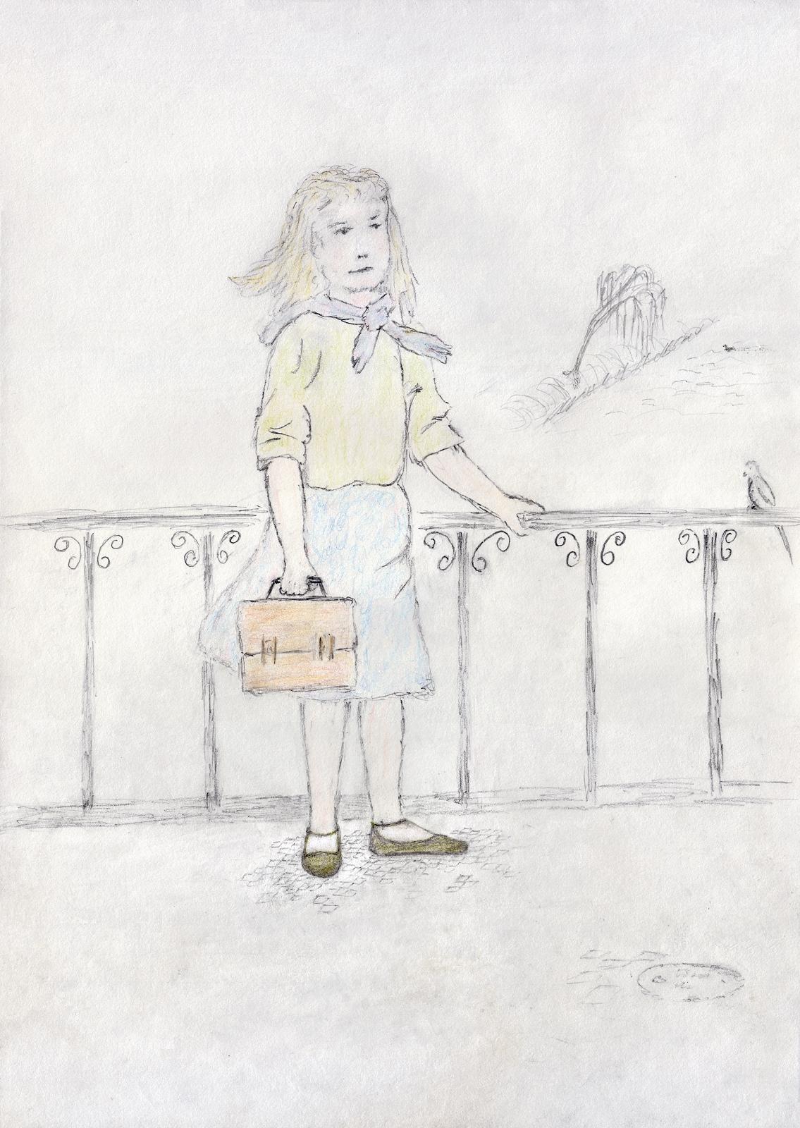 Pioniermädel, Zeichnung von 1990