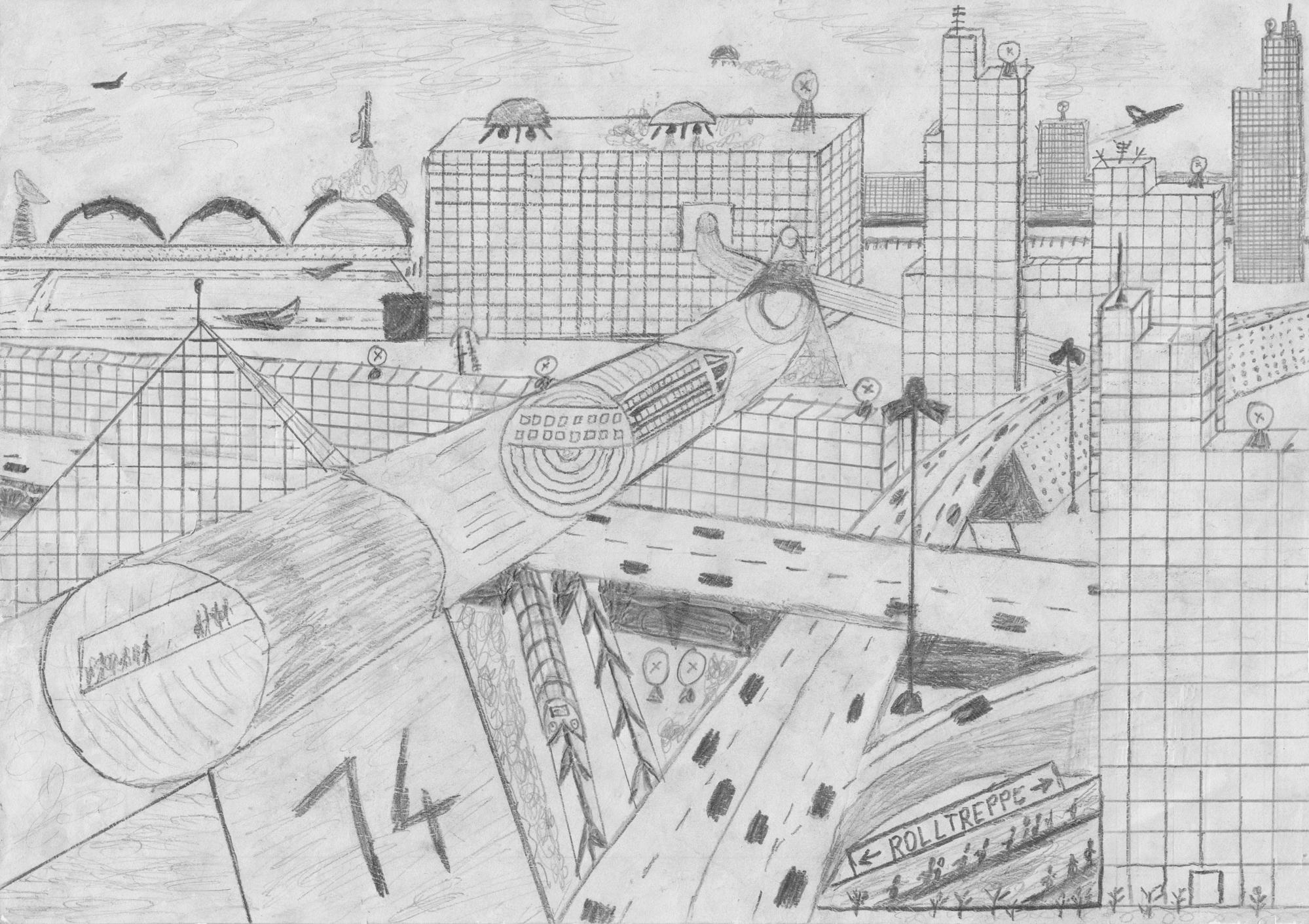 Utopia, Zeichnung von 1985